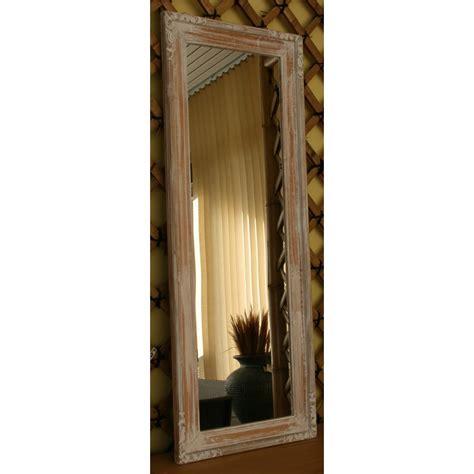 specchi con cornice in legno specchio elisa legno decapato bianco