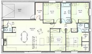 plan maison 4 chambres gratuit 8 plain pied chambre With plan maison 4 chambres plain pied gratuit