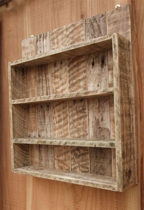 rustic spice rack kitchen shelf cabinet  newpurposedesign pallet diy wooden pallet