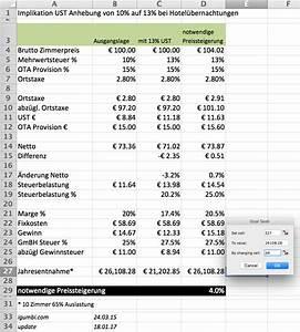 Mehrwertsteuer In Excel Berechnen : wie viel m ssen preise angehoben werden wegen der mehrwertsteuererh hung 2016 in sterreich von ~ Themetempest.com Abrechnung