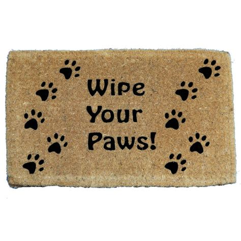 Wipe Your Paws Doormat by Deluxe Wipe Your Paws Coir Mat 1 6 X 2 7 13605229