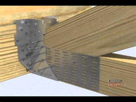 installing ceiling joist hangers htu heavy truss hanger installation
