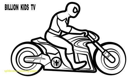 Spiderman Motorcycle Coloring Pages