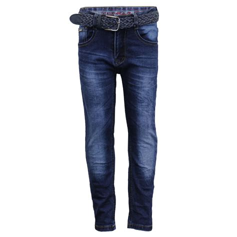 Boys Ripped Denim Jeans Kids Pants Trousers Bottoms Children Fashion FREE BELT | eBay