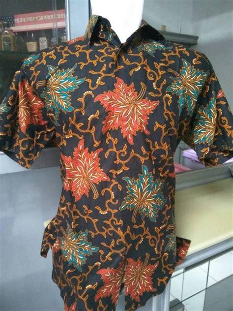 jual kemeja batik pria lengan pendek 008 di terjual