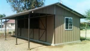 ring o steel california horse barns shed row horse barn