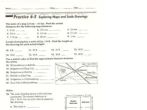 scale drawing worksheet 7th grade pdf worksheets for all