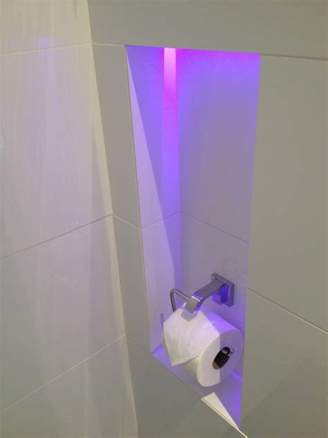 recessed toilet paper holder Bathroom Modern with colour