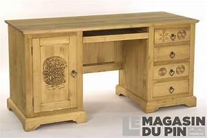 Meuble Bureau But : bureau meuble chalet en pin massif sculptures montagne le magasin ~ Teatrodelosmanantiales.com Idées de Décoration