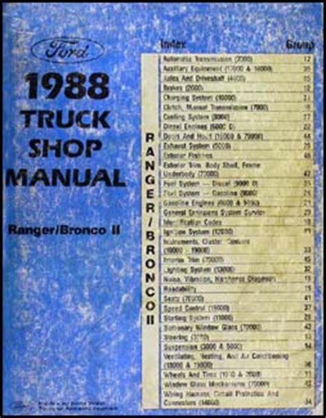 service and repair manuals 1988 ford bronco ii security system 1988 ford ranger bronco ii repair shop manual original