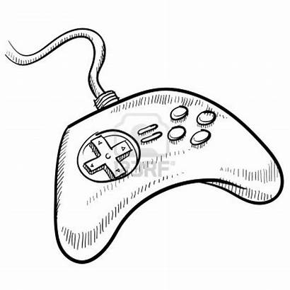 Controller Drawing Xbox Sketch Getdrawings Illustration
