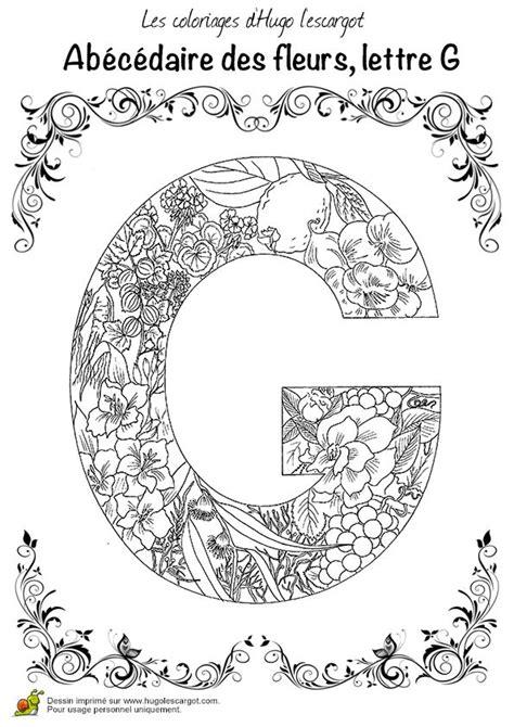 coloriages de lettres images  pinterest