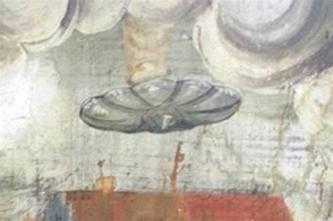 UFO discovered in medieval wall painting hanging in ...