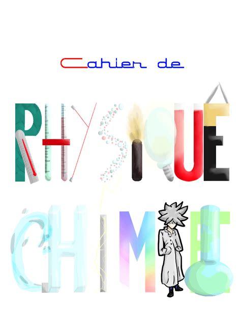 dessin page de garde physique chimie coloriage  imprimer