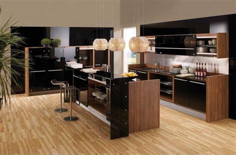 parquet massif cuisine cuisine chene clair plan travail noir cuisine chene noir