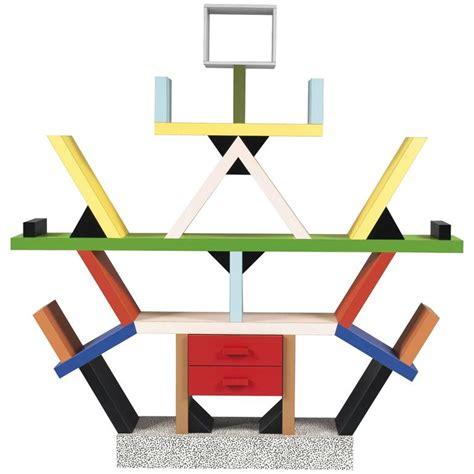 Mid Century Modern Table Lamp by 1981 Ettore Sottsass Memphis Carlton Bookshelf