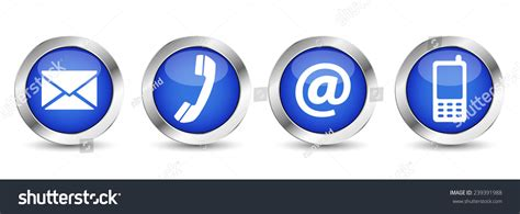 contact  web buttons set  email  telephone
