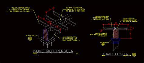 pergola dwg section  autocad designs cad
