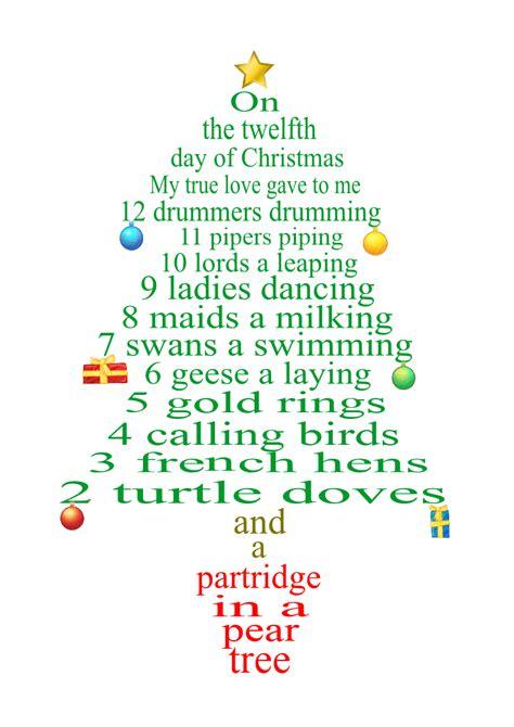 decorate the christmas tree lyrics 12 day of lyrics as tree decorations