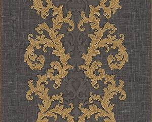 Tapete Barock Gold : tapete vlies barock gold anthrazit as creation versace 96232 6 ~ Orissabook.com Haus und Dekorationen