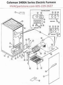 3400a816 Coleman Electric Furnace Parts  U2013 Hvacpartstore