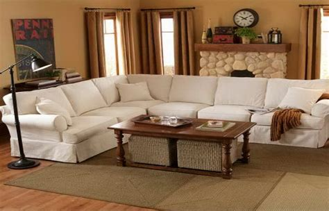 Pottery Barn Sectional Sofas White Leather