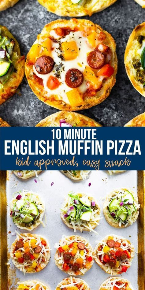 minute english muffin pizza recipe  images