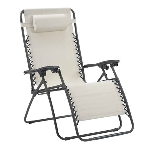 2 zero gravity chair lounger folding recliner pool