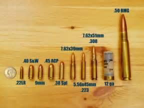 Bullet Caliber Size Chart