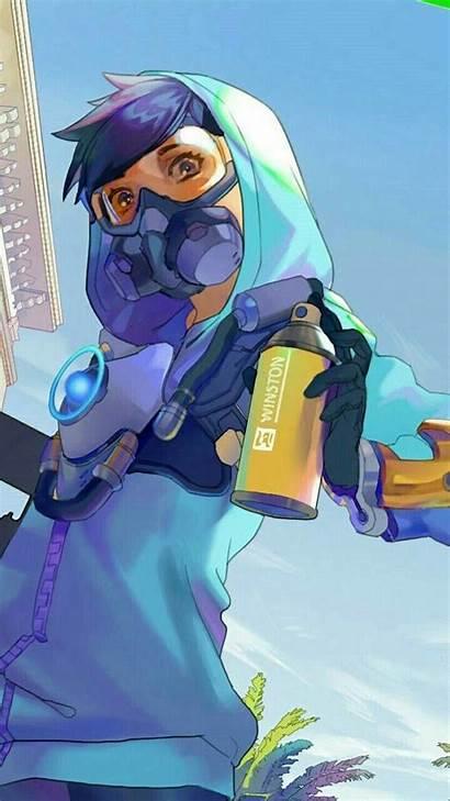 Tracer Overwatch Graffiti Anime Skin Comic Fan