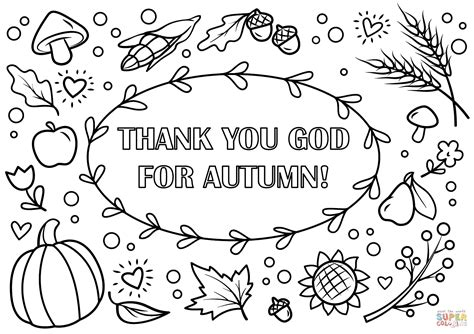fall color pages thank you god for autumn coloring page free printable