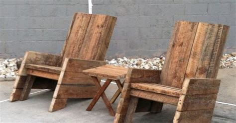 Two Chairs And One Table For 0. Made With Old Barn Wood