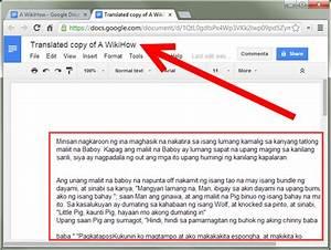how to translate a google drive document 7 steps with With google drive create documents