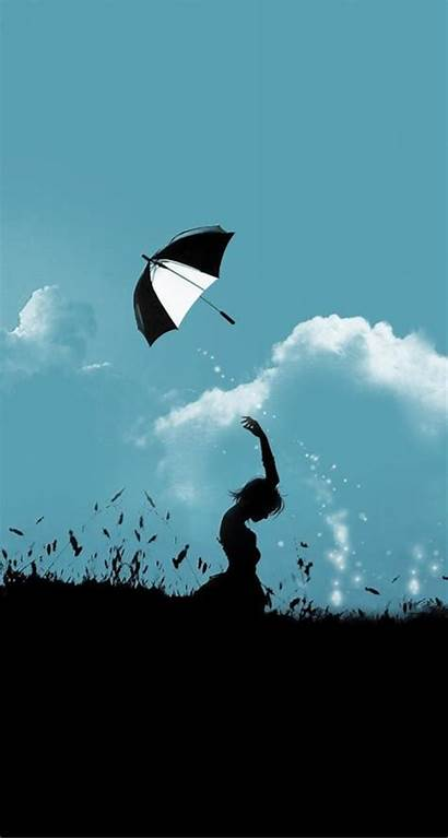 Aesthetic Iphone Wallpapers Sky Cloudy Backgrounds Umbrella