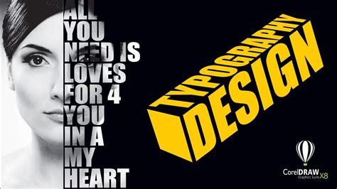 typography design using coreldraw x8 youtube