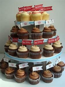 50th birthday cupcakes   50th Birthday Party ideas   Pinterest