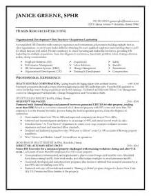 hr executive resume format for experienced resume sles elite resume writing