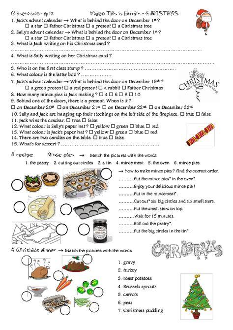 worksheet christmas  england