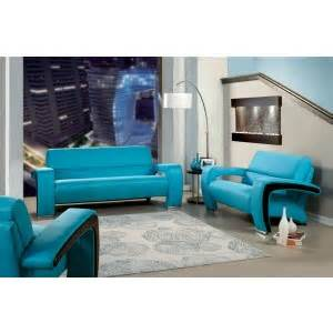 stanford teal fabric living room set cm6269tl sf furniture of america