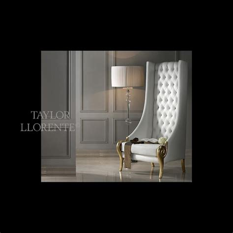 luxury  high  armchair taylor llorente furniture