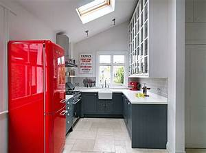 Cuisine grise et rouge associations harmonieuses en 48 idees for Kitchen colors with white cabinets with papier photo polaroid