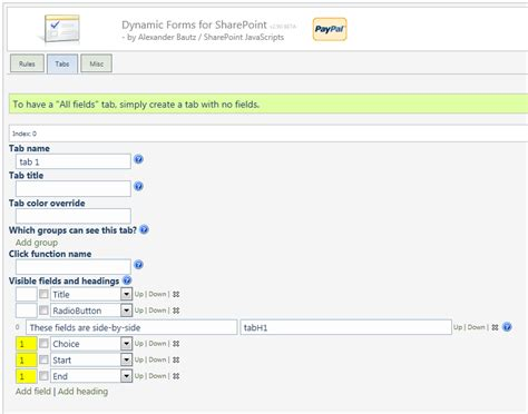 dynamic forms for sharepoint 2013 dynamic forms for sharepoint now with side by side