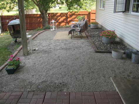 pea gravel patio happy at home a new gravel patio