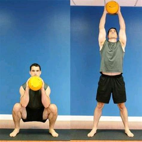 thrusters kettlebell exercise skimble workout description step muscle