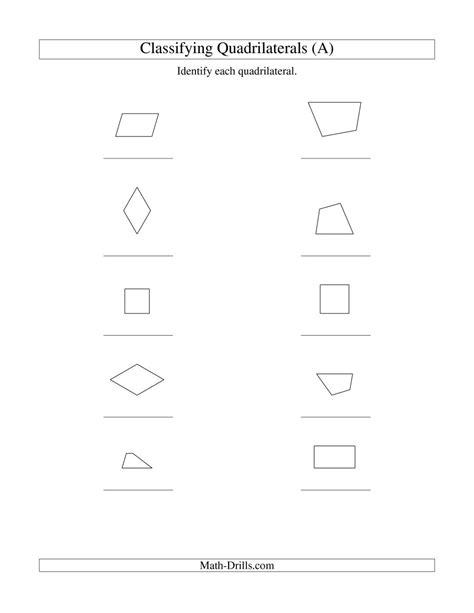 classifying quadrilaterals squares rectangles