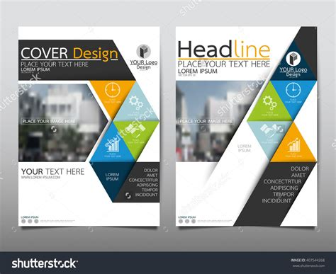 Blue And Green Vector Brochure Flyer Design Template Blue And Green Square Annual Report Brochure Flyer Design