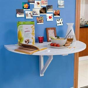 Table Ronde Rabattable : table murale rabattable en bois table de cuisine pliable table enfant demi ronde couleur ~ Melissatoandfro.com Idées de Décoration