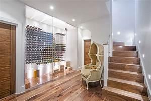 Diy wine glass rack wine cellar contemporary with corner