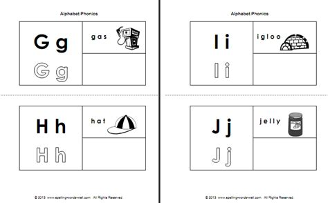 alphabet phonics booklet phonics activities