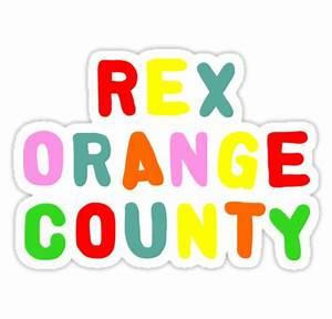 """REX ORANGE COUNTY TSHIRT"" Stickers by camitalla Redbubble"